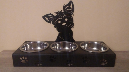 Stojak z miskami dla psa, miska dla psa YORK (1)