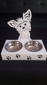 Stojak z miskami dla psa YORK z grzywą