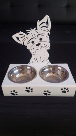 Stojak z miskami dla psa YORK z grzywą (1)